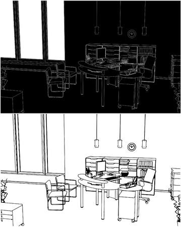 Office-Innenraum Illustration