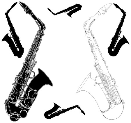 alto: Saxophone Illustration