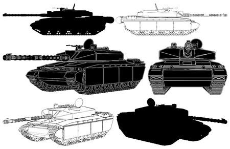 Military Tank Vettoriali