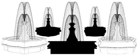 Classic Fountain Stock Vector - 8802169