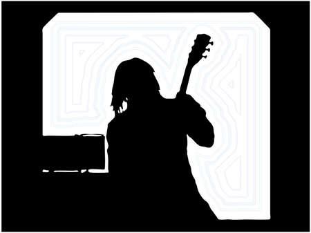 Guitarist Musician Silhouettes Vector
