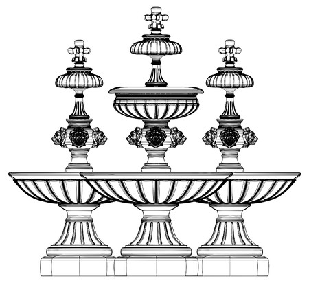 Classic Fountain Vector