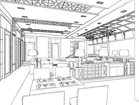 Restaurant moderne Banque d'images - 9063848