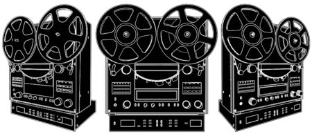 Professional Stereo Audio Tape Deck Recorder Vector