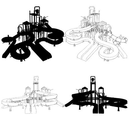 plastic pipe: Children Playground Illustration