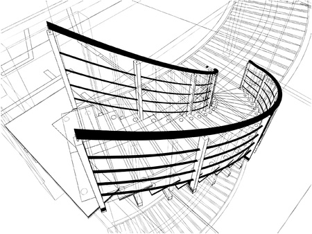 Abstract Spiral Staircases Constructions Of Line