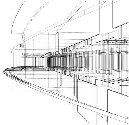 Abstrakt Konstruktionen der Linie