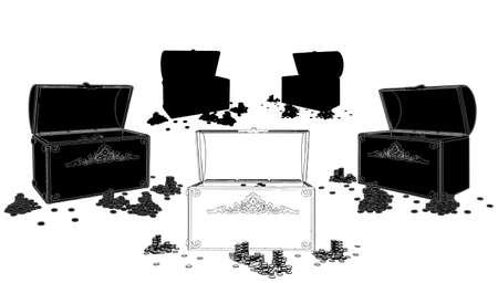 safe box: Treasure Chest Illustration
