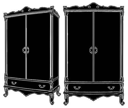 Cupboard Dresser Vector