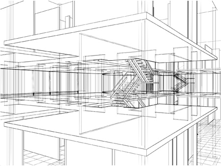 Abstrakt Konstruktionen Illustration