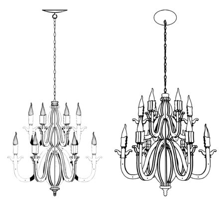 Luster Chandelier Stock Vector - 9485929