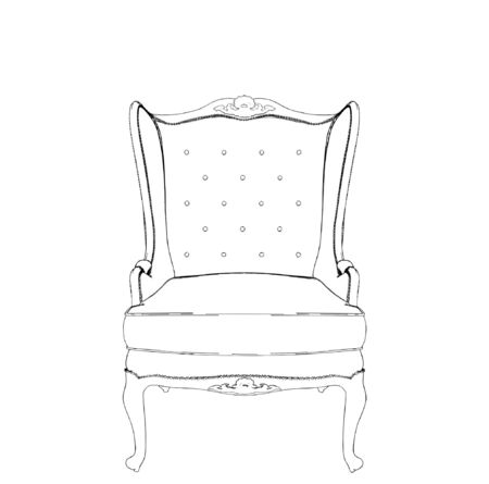 armchair: Antique Armchair Illustration