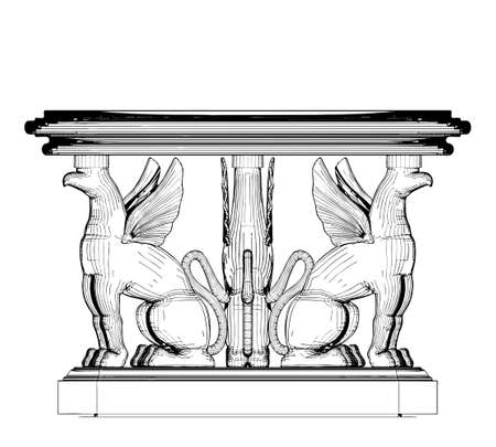 Antique Table Vector