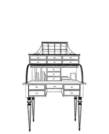 work table: Antique Work Table Illustration