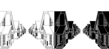 residential settlement: Residential Houses In The Settlement