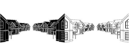 Residential Houses In The Settlement