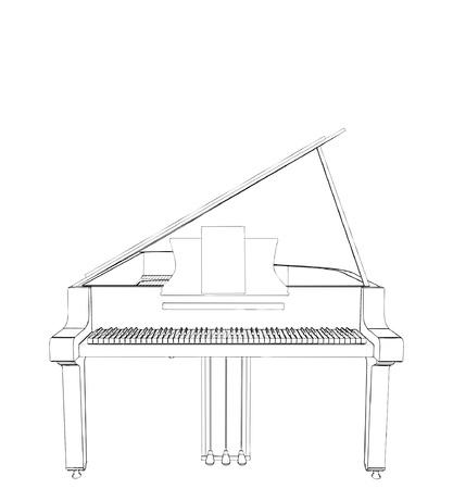 Classic Piano Stock Vector - 9536454