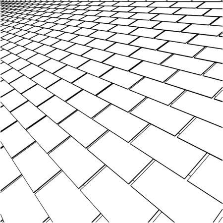 tile roof: Tegola Vettoriali