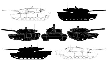 battle tank: Tanque militar Vectores