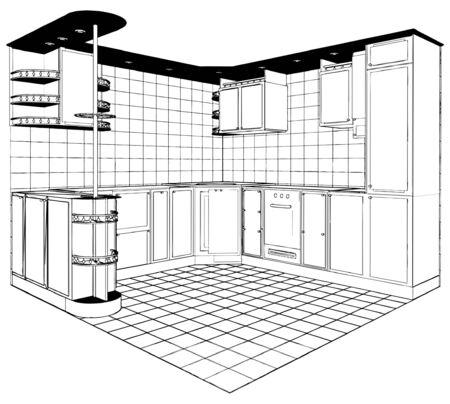 Kitchen  Stock Vector - 9632270