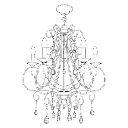 chandelier isolated: Luster Chandelier Illustration