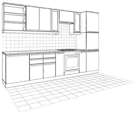 Kitchen Stock Vector - 9632265