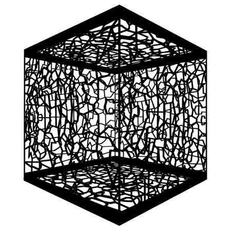 commit: Abstract Ornamental Cage Illustration
