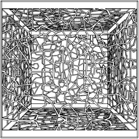 incartade: Abstract Cage ornemental Illustration