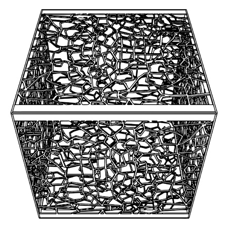 misdemeanor: Abstract Ornamental Cage Illustration