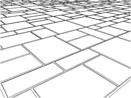 flooring design: Tile Floor Illustration