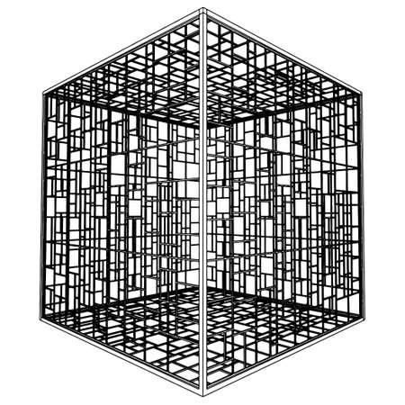 incartade: Cage abstraite  Illustration