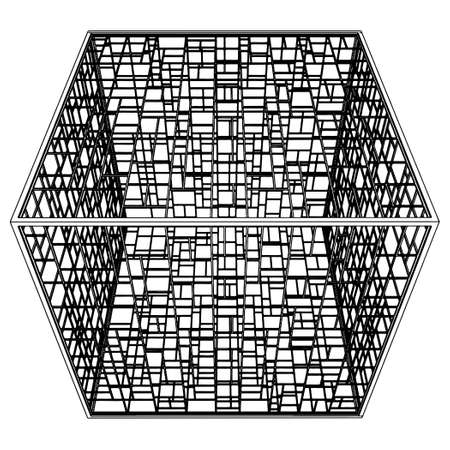 to commit: Abstract Cage  Illustration