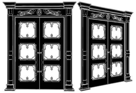 Wooden Door Stock Vector - 9678162