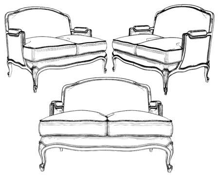 Classic Sofa Stock Vector - 9678161