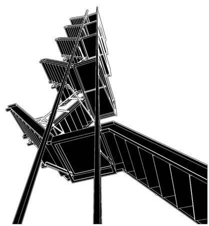 huir: Una escaleras de Escape de fuego Vectores