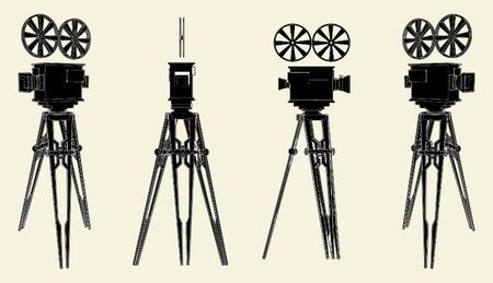 video shooting: Antique Movie Stand Camera