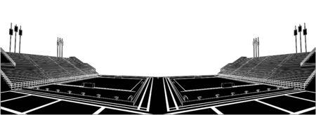 waterpolo: Piscina para la competencia de Polo acu�tico Vectores
