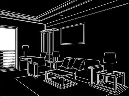 Moderne Wohnzimmer Vektorgrafik