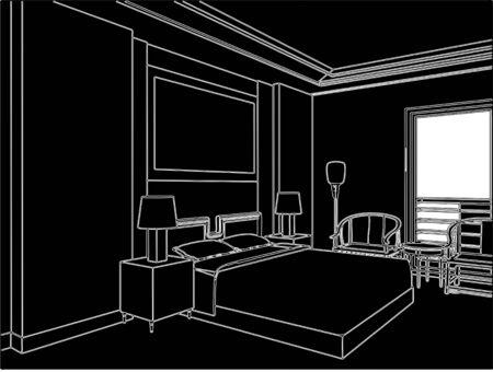 cama: Dormitorio moderno