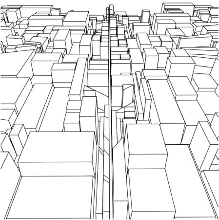 building block: Abstract Urban City Boxes From Cube