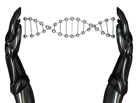 Android Hands Create DNA String