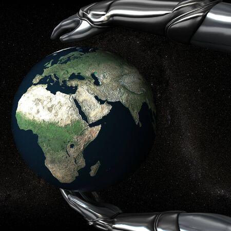 Hands Keep Earth Globe Safe photo