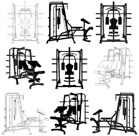Fitness Home Simulator Gym For Sports Training Stock Vector - 10174209