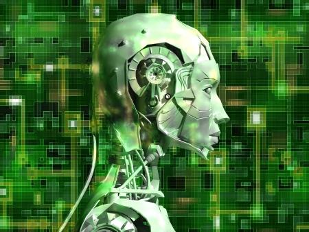 robot: Android ujawnia wewnÄ™trznego technologii ich obwód elektryczny Zdjęcie Seryjne
