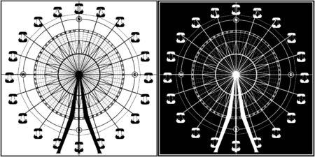 Carousel In Compass  矢量图像