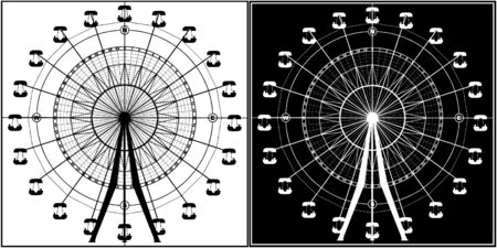 Carousel In Compass  Vector