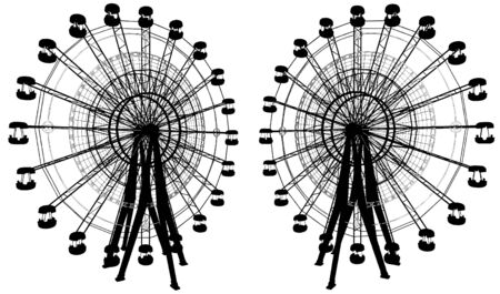 carnival ride: Carousel With Compass Illustration