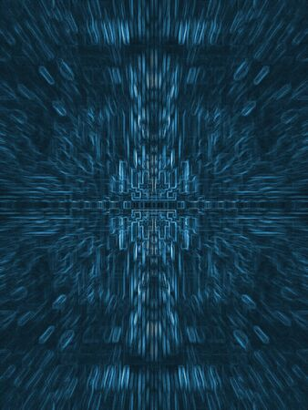 Abstract Blue Electric Circuit Future Technology photo