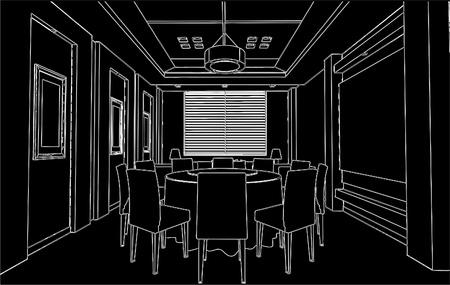 lifestyle dining: Modern Dining Room