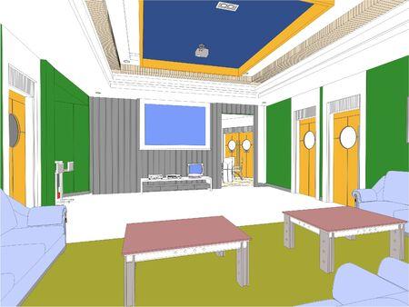furnish: Modern Hall Illustration